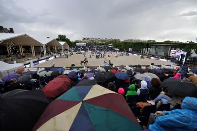 France, Paris : Illustration, rain, during the Longines Global Champions Tour of Longines Paris Eiffel Jumping, on June 30th , 2017, in Paris, France - Photo Christophe Bricot