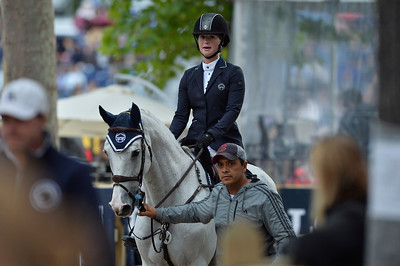 France, Paris : Jennifer Gates riding Pumped Up Kicks during the Longines Global Champions Tour of Longines Paris Eiffel Jumping, on June 30th , 2017, in Paris, France - Photo Christophe Bricot
