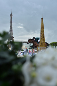 France, Paris : Sergio Alvarez Moya riding G&C Unicstar de l'Aumone during the Longines Global Champions Tour of Longines Paris Eiffel Jumping, on June 30th , 2017, in Paris, France - Photo Christophe Bricot