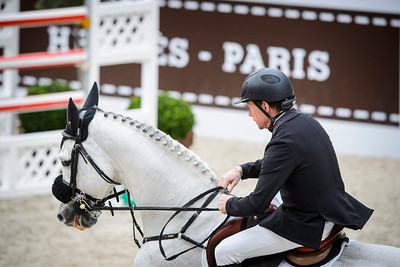 France, Paris : Rolf-Göran BENGTSSON riding Clarimo ASK during the Saut-Hermès Jumping competition in the Grand-Palais, on March 19th , 2017, in Paris, France - Photo Christophe Bricot
