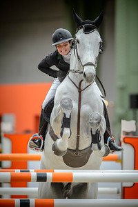 France, Paris : Margaux BOST riding As de Papignies during the Saut-Hermès Jumping competition in the Grand-Palais, on March 18th , 2017, in Paris, France - Photo Christophe Bricot