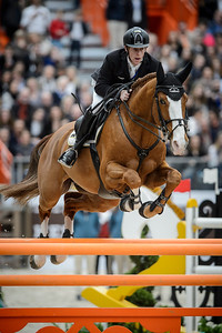 France, Paris : Marcus EHNING riding Funky Fred during the Saut-Hermès Jumping competition in the Grand-Palais, on March 19th , 2017, in Paris, France - Photo Christophe Bricot
