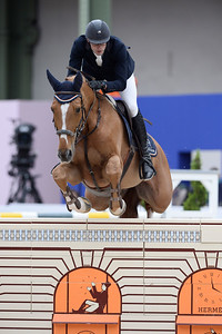 France, Paris : Nathan BUDD riding Balder van de Katelijnkouterl during the Saut-Hermès Jumping competition in the Grand-Palais, on March 19th , 2017, in Paris, France - Photo Christophe Bricot
