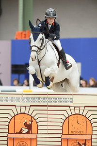 France, Paris : Joanna PARKINSON riding Golden Magic C during the Saut-Hermès Jumping competition in the Grand-Palais, on March 19th , 2017, in Paris, France - Photo Christophe Bricot