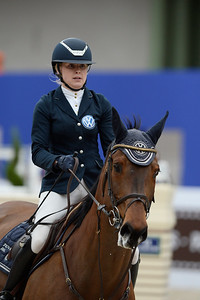 France, Paris : Evelina TOVEK riding Quiara M The Stars during the Saut-Hermès Jumping competition in the Grand-Palais, on March 19th , 2017, in Paris, France - Photo Christophe Bricot