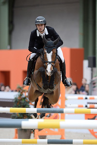 France, Paris : Steve GUERDAT riding Dioleen during the Saut-Hermès Jumping competition in the Grand-Palais, on March 19th , 2017, in Paris, France - Photo Christophe Bricot