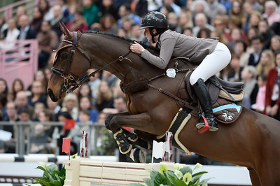 France, Paris : Louise SAYWELL riding Cordalis 7 during the Saut-Hermès Jumping competition in the Grand-Palais, on March 18th , 2017, in Paris, France - Photo Christophe Bricot