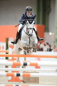France, Paris : Malin BARYARD-JOHNSSON riding H&M Cue Channa 42 during the Saut-Hermès Jumping competition in the Grand-Palais, on March 18th , 2017, in Paris, France - Photo Christophe Bricot