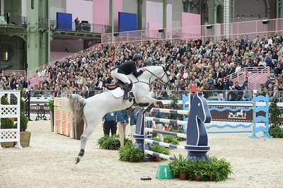 France, Paris : Rolf-Göran BENGTSSON riding Clarimo ASK during the Saut-Hermès Jumping competition in the Grand-Palais, on March 18th , 2017, in Paris, France - Photo Christophe Bricot