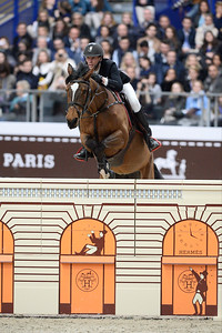 France, Paris : Kevin STAUT riding Elky van het Indihof HDC during the Saut-Hermès Jumping competition in the Grand-Palais, on March 18th , 2017, in Paris, France - Photo Christophe Bricot