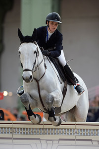 France, Paris : Margaux BOST riding As de Papignies during the Saut-Hermès Jumping competition in the Grand-Palais, on March 17th , 2017, in Paris, France - Photo Christophe Bricot