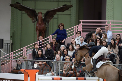 France, Paris : Janika SPRUNGER riding Aris CMS during the Saut-Hermès Jumping competition in the Grand-Palais, on March 17th , 2017, in Paris, France - Photo Christophe Bricot