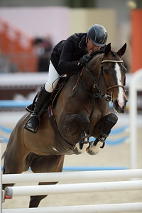 France, Paris : John WHITAKER riding Ornellaia during the Saut-Hermès Jumping competition in the Grand-Palais, on March 17th , 2017, in Paris, France - Photo Christophe Bricot