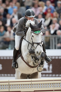 France, Paris : Ludger BEERBAUM riding Chiara 222 during the Saut-Hermès Jumping competition in the Grand-Palais, on March 17th , 2017, in Paris, France - Photo Christophe Bricot