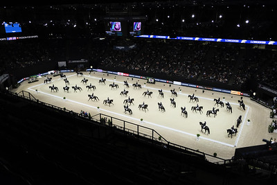 Paris, France : Shelly FRANCIS (USA) riding DANILO , arena of Bercy during the FEI World Cup Finals at the Accor Hotel Arena - Avril 11-15, on April 14, 2018, in Paris, France - Photo Christophe Bricot