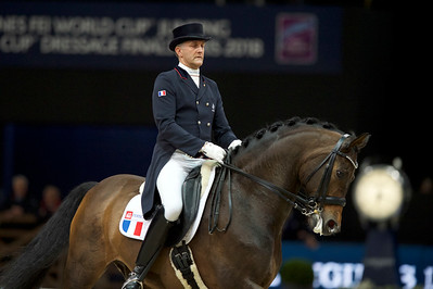Paris, France : Ludovic HENRY (FRA) riding AFTER YOU riding during the FEI World Cup Finals at the Accor Hotel Arena - Avril 11-15, on April 13, 2018, in Paris, France - Photo Christophe Bricot