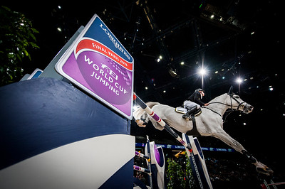 Paris, France : Marcus EHNING (GER) riding CORNADO NRW during the FEI World Cup Finals at the Accor Hotel Arena - Avril 11-15, on April 13, 2018, in Paris, France - Photo Christophe Bricot