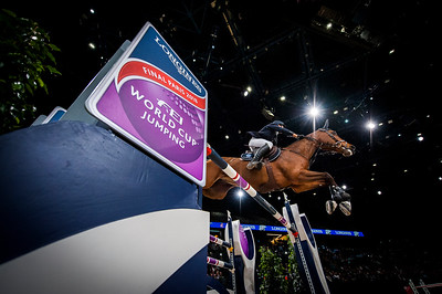 Paris, France : Henrik VON ECKERMANN (SWE) riding MARY LOU 194 during the FEI World Cup Finals at the Accor Hotel Arena - Avril 11-15, on April 13, 2018, in Paris, France - Photo Christophe Bricot