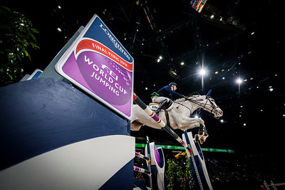 Paris, France : Daniel DEUSSER (GER) riding CORNET D'AMOUR during the FEI World Cup Finals at the Accor Hotel Arena - Avril 11-15, on April 13, 2018, in Paris, France - Photo Christophe Bricot