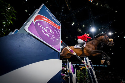 Paris, France : Elizabeth (Beezie) MADDEN (USA) riding BREITLING LS during the FEI World Cup Finals at the Accor Hotel Arena - Avril 11-15, on April 13, 2018, in Paris, France - Photo Christophe Bricot