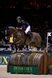 France, Bordeaux : Thomas Carlile riding Atos Barbotiere during the Devoucoux Indoor Derby competition, International Show Jumping of Bordeaux, on February 2, 2018, in Bordeaux, France - Photo Christophe Bricot