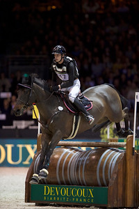 France, Bordeaux : Maxime Livio riding Boleybawn Prince during the Devoucoux Indoor Derby competition, International Show Jumping of Bordeaux, on February 2, 2018, in Bordeaux, France - Photo Christophe Bricot