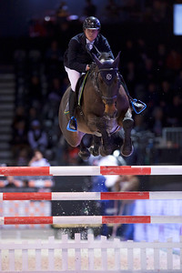 France, Bordeaux : Alexis BORRIN (FRA) riding ANDAIN DU THALIE during the Bordeaux Young Sires Masters by Selle Français competition of the International Show Jumping of Bordeaux, on February 2, 2018, in Bordeaux, France - Photo Christophe Bricot