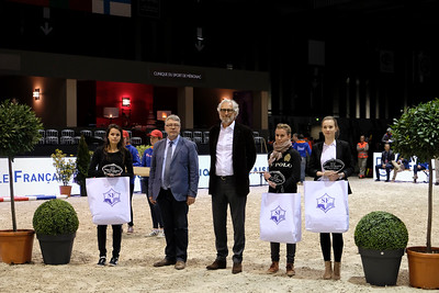 France, Bordeaux :   during the Bordeaux Young Sires Masters by Selle Français competition of the International Show Jumping of Bordeaux, on February 2, 2018, in Bordeaux, France - Photo Christophe Bricot