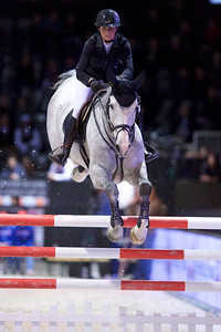 France, Bordeaux : Penelope LEPREVOST (FRA) riding GFE EXCALIBUR DE LA TOUR VIDALduring the Bordeaux Young Sires Masters by Selle Français competition of the International Show Jumping of Bordeaux, on February 2, 2018, in Bordeaux, France - Photo Christophe Bricot