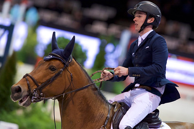 France, Bordeaux : Bertram ALLEN (IRL) riding GUINNESS during the Bordeaux Young Sires Masters by Selle Français competition of the International Show Jumping of Bordeaux, on February 2, 2018, in Bordeaux, France - Photo Christophe Bricot