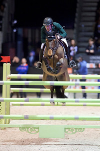 France, Bordeaux : Mark MCAULEY (IRL) riding VALENTINO TUILIERE during the French Tour Generali, Nouvelle Aquitaine Trophy competition of the International Show Jumping of Bordeaux, on February 2, 2018, in Bordeaux, France - Photo Christophe Bricot