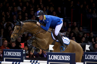 France, Bordeaux : Christian AHLMANN (GER) riding Atomic Z during the French Tour Generali, Nouvelle Aquitaine Trophy competition of the International Show Jumping of Bordeaux, on February 2, 2018, in Bordeaux, France - Photo Christophe Bricot