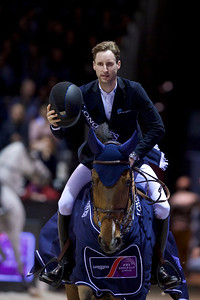 France, Bordeaux : Pieter DEVOS (BEL) riding ESPOIR  , winner of the Longines FEI World Cup Jumping Leg by Bordeaux Events of the International Show Jumping of Bordeaux, on February 3, 2018, in Bordeaux, France - Photo Christophe Bricot