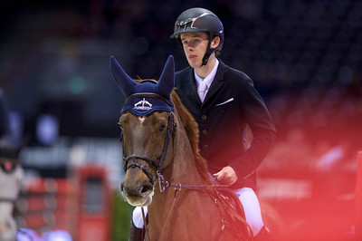 France, Bordeaux : Bertram ALLEN (IRL) riding Christy Jnr during the Prix France Info - France Bleue competition - International Show Jumping of Bordeaux, on February 4, 2018, in Bordeaux, France - Photo Christophe Bricot