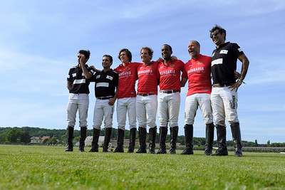 """Chantilly, France :  Nobility for Ability Charity Cup finals with Las Hermanitas / Los Nocheros ; Sawai Padmanabh Singh Fashion show """"Khadi Silk""""  by Charu Parashar and polo match with Royal Jaipur Polo Team (with the maharadja of Jaipur) / Chantilly Polo Club,  on June 24, 2018, in Chantilly, France - Photo Christophe Bricot"""