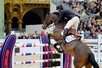 Paris, France : Harrie SMOLDERS (NED) riding CAS 2 during the Saut-Hermès in the Grand Palais, on March 16, 2018, in Paris, France - Photo Christophe Bricot