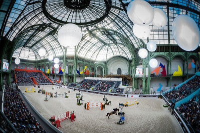 Paris, France : general overview of the arena during the Saut-Hermès in the Grand Palais, on March 16, 2018, in Paris, France - Photo Christophe Bricot