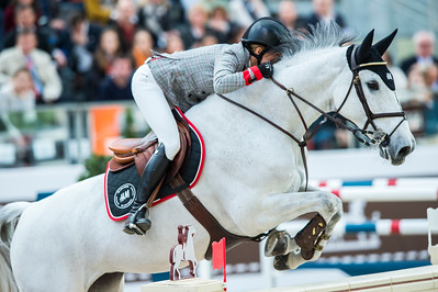 Paris, France : Malin BARYARD JOHNSSON (SWE) riding H&M CUE CHANNA 42 during the Saut-Hermès in the Grand Palais, on March 16, 2018, in Paris, France - Photo Christophe Bricot