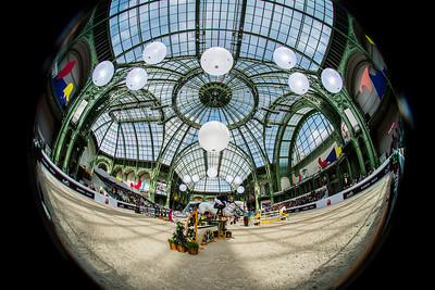 Paris, France : Gregory WATHELET (BEL) riding MJT NEVADOS S during the Saut-Hermès in the Grand Palais, on March 16, 2018, in Paris, France - Photo Christophe Bricot
