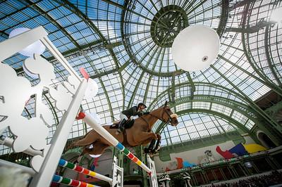 Paris, France : Alexandra PAILLOT (FRA) riding TONIO LA GOUTELLE during the Saut-Hermès in the Grand Palais, on March 16, 2018, in Paris, France - Photo Christophe Bricot