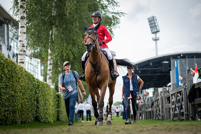 Germany, Aachen : Pius SCHWIZER (SUI) riding ULANE BELMANIERE during the CHIO of Aachen, on July 19th , 2019, in Aachen, Germany - Photo Christophe Bricot