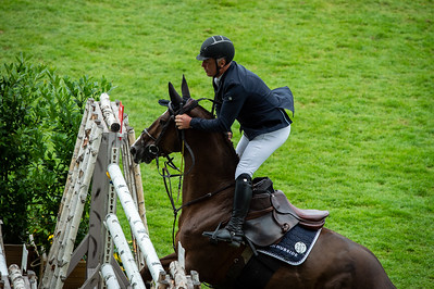 Germany, Aachen : Roger Yves BOST (FRA) riding SUNSHINE DU PHARE during the CHIO of Aachen, on July 19th , 2019, in Aachen, Germany - Photo Christophe Bricot