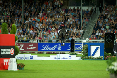 Germany, Aachen : Kevin STAUT (FRA) riding CALEVO 2 during the CHIO of Aachen, on July 18th , 2019, in Aachen, Germany - Photo Christophe Bricot