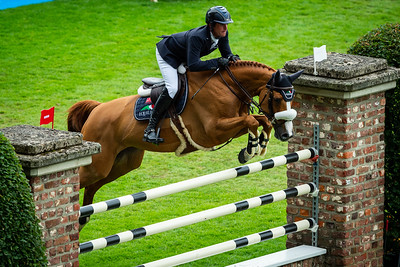 Germany, Aachen : Darragh KENNY (IRL) riding BABALOU 41 during the CHIO of Aachen, on July 18th , 2019, in Aachen, Germany - Photo Christophe Bricot