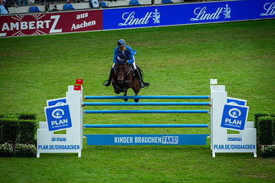 Germany, Aachen : Christian AHLMANN (GER) riding CIAO CONNI ST during the CHIO of Aachen, on July 18th , 2019, in Aachen, Germany - Photo Christophe Bricot