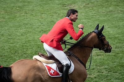 France, La Baule : Steve Guerdat riding Albfuehren's Bianca during the Longines FEI Jumping Nations Cup™ de France-La Baule, on May 17th , 2019, in La Baule, France - Photo Christophe Bricot