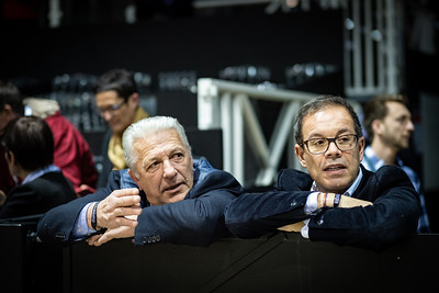 France, Bordeaux : Hervé Godignon and Kamel Boudra during the  Longines FEI World Cup Grand Prix the Jumping International in Bordeaux, western France, on February 9th , 2019, in Bordeaux, France - Photo Christophe Bricot / CEB
