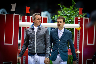France, Bordeaux : Julien Epaillard and Simon Delestre during the  Longines FEI World Cup Grand Prix the Jumping International in Bordeaux, western France, on February 9th , 2019, in Bordeaux, France - Photo Christophe Bricot / CEB