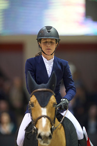 France, Bordeaux :  Felicie Bertrand for France riding Sultane des Ibis during Land Rover Grand Prix, during the Jumping International in Bordeaux, western France, on February 10th , 2019, in Bordeaux, France - Photo Christophe Bricot / CEB
