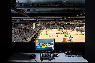 France, Bordeaux : Ambiance, media, arena, during the Jumping International in Bordeaux, western France, on February 7th , 2019, in Bordeaux, France - Photo Christophe Bricot